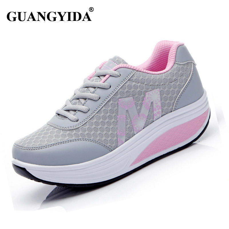 2017 Women Shoes Fashion Shoes for Women Spring summer Height Increasing  Platform Swing Wedges Shoes Breathable st36 hot height increasing 2016 summer shoes women s casual shoes sport fashion walking shoes for women swing wedges shoes breathable