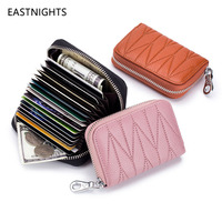 Large Capacity Women Card Wallet Zipper Fold Credit Card Holder Extendable ID Cards Purse Ladies Female Bags
