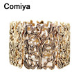 Comiya indian jewelry pulseira feminina fashion antique color zinc alloy wide bangles bracelets pulseras mujer wholesale bangle