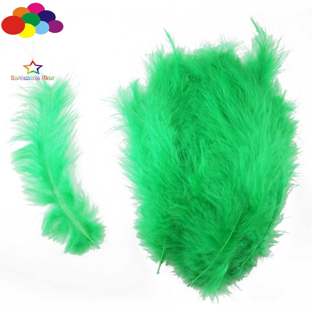 Фото Трава зеленая макароны цвет Турция перья 100 шт. Diy Пух импортированы для волна мяч