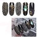 1set Micro Glass Beads Nail Art Decorations Gold Silver Black Rhinestones Mini 3D Nail Art Decal Multicolor Manicure Accessories