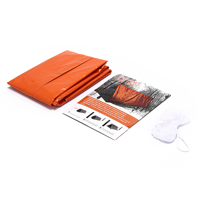 1PC PE Portable Survival Emergency Shelter Tent Waterproof Outdoor Rescue Camping Shelter Emergencies Keep Warm For Hiking