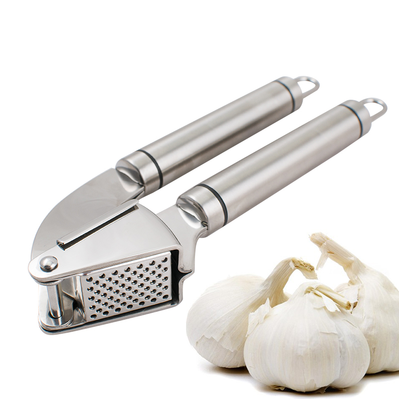Garlic Press And Peeler - Solid Stainless Steel Mincer Kitchen Tools