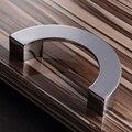 96mm Semicírculo de Metal Maçaneta Da Porta Do Armário Gaveta do Armário Knob Puxe Cozinha Moderna puxadores Para Móveis