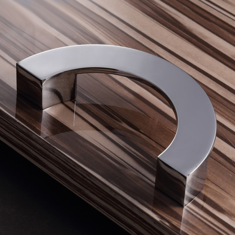 96mm Semicircle Metal Pull Modern Kitchen Cabinet Door Handle Drawer Wardrobe Knob Furniture handles