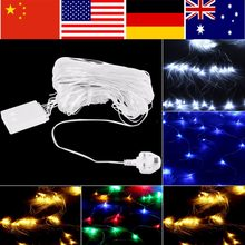 210 LED Fairy Net Light Mesh Curtain String Wedding Christmas Party Decor(China)