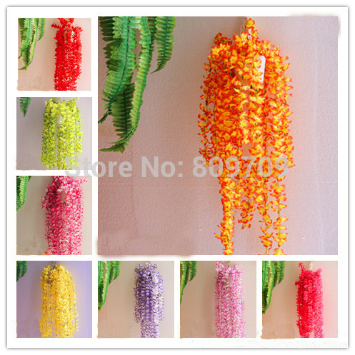 12pcs Artificial Silk Winter Jasmine Vine Rattan Cane Ivy Wall Hang Garland Plant Wedding Home Party Adornment Market Decor