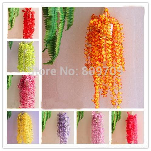 12pcs Artificial Silk Winter Jasmine Vine Rattan Cane Ivy Wall Hang Garland Plant Wedding Home Party Adornment Market Decor