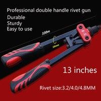 High Quality Heavy Duty Industrial Blind Rivet Guns Manual Riveter Double Handles Nail Gun Hand Riveter