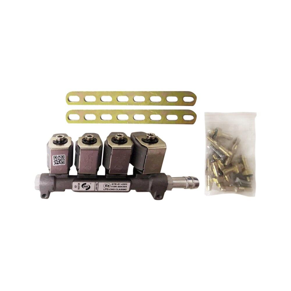 2ohm 12DC CNG LPG Injector Rail Super Silent High Speed Common Injector Rail Gas Injector And Accessories
