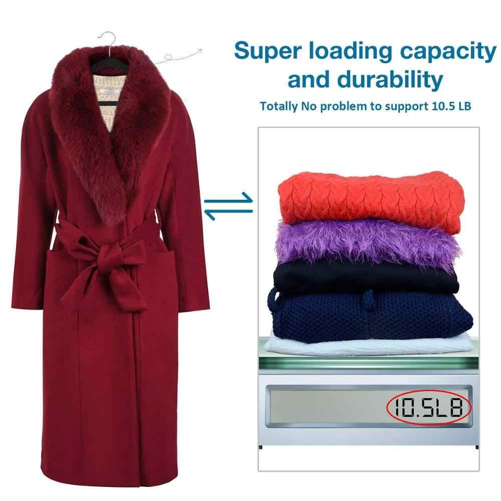 非スリップベルベットハンガースーツハンガー超薄型省スペース 360 度スイベルフック強力かつ耐久性のある服ハンゲ