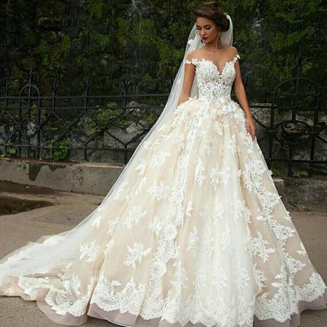 Buy White Chiffon Vintage Weeding Dresses