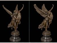 Art Deco Sculpture GLORIA VICTIS Angel Save Nude Man Warrior Bronze Statue Fine wedding Arts Crafts decoration
