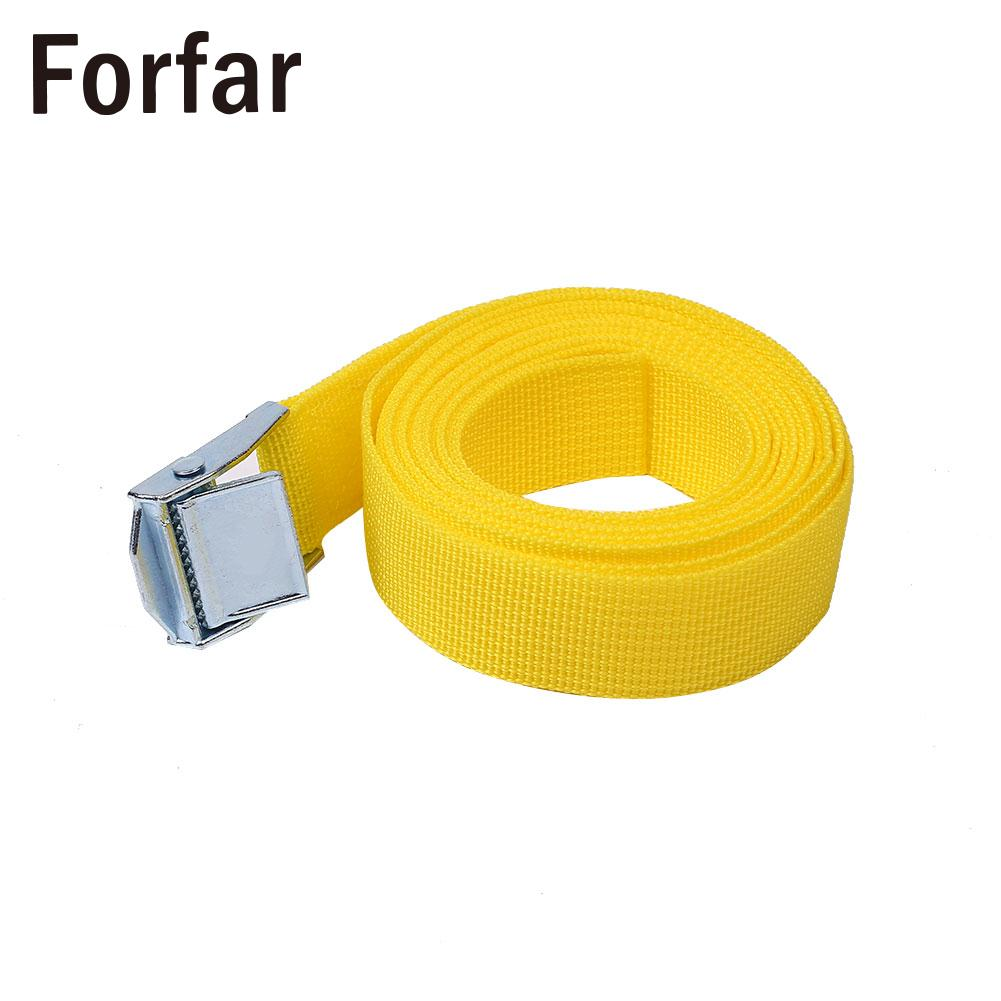 2.5M Yellow Buckle Tie Down Luggage Straps Lash Belt Nylon Outdoor Camping Tools Outdoor Camping Nylon Woven belt