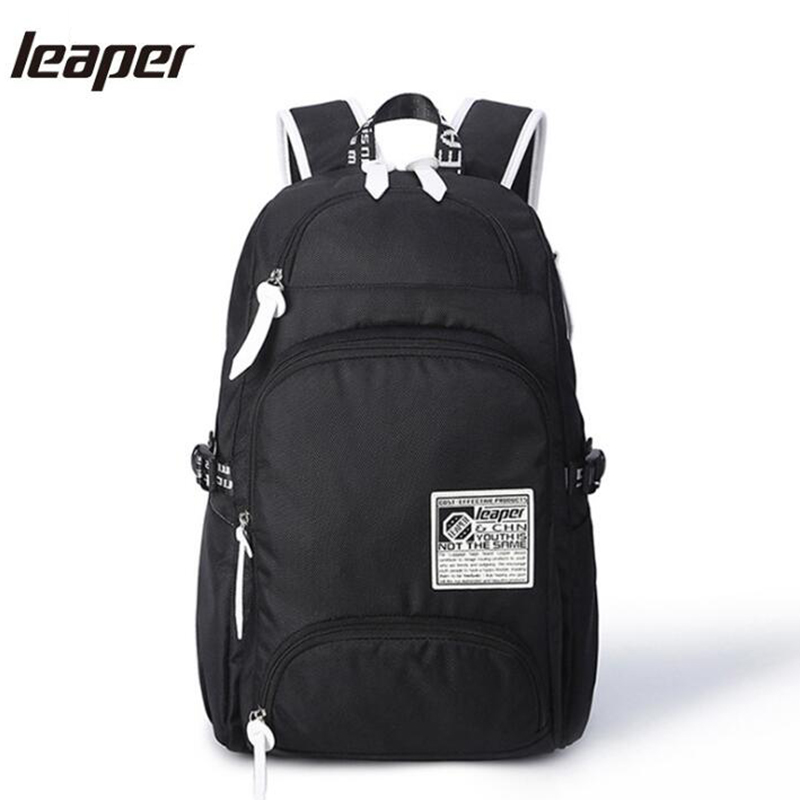 Leaper Laptop Backpacks For Teenage Boys Men Backpack Fashion Travel Large Capacity Waterproof Designer Backpack Bags Oxford grizzly new laptop backpack men for teenager boys fashion large capacity mochila multifunction travel bags waterproof school bag