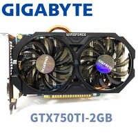 Gigabyte GVI-750TOC-2GI GTX750TI GTX 750TI 2 GB 2G D5 DDR5 128 bits cartes graphiques pc de bureau cartes graphiques d'ordinateur