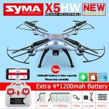 SYMA x5hw FPV-системы Радиоуправляемый квадрокоптер Радиоуправляемый Дрон с WI-FI Камера 2.4 г 6 оси VS SYMA x5sw обновления дроны вертолет Игрушечные лошадки с батареей 5