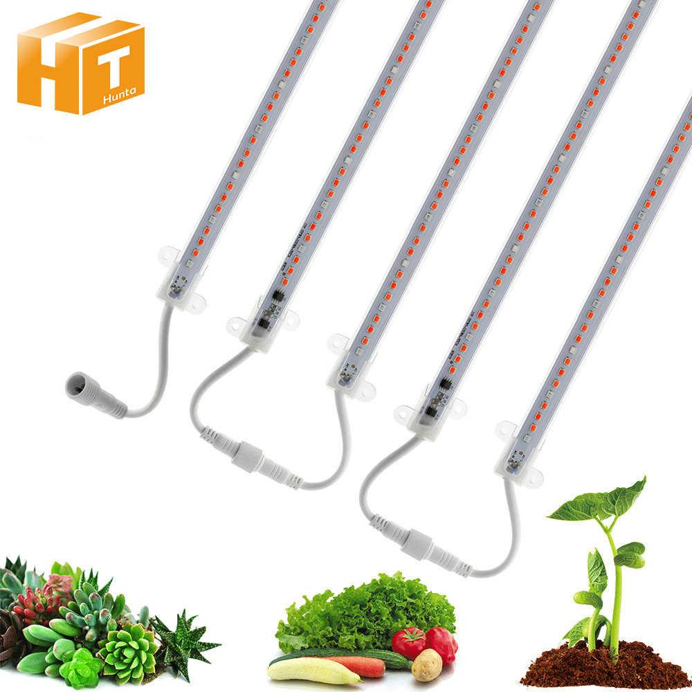 Светодиодный свет для выращивания AC220V высокой яркости 2835 полный спектр Водонепроницаемая светодиодная шина свет для Аквариум теплица растение 5 шт./компл.