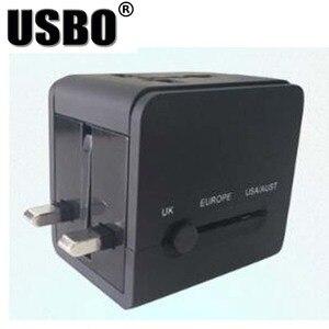 Image 5 - Black White global Universal Plug Adapter double USB 5V 2.1A Port travel AC Power Adaptor with AU US UK EU plug socket converter