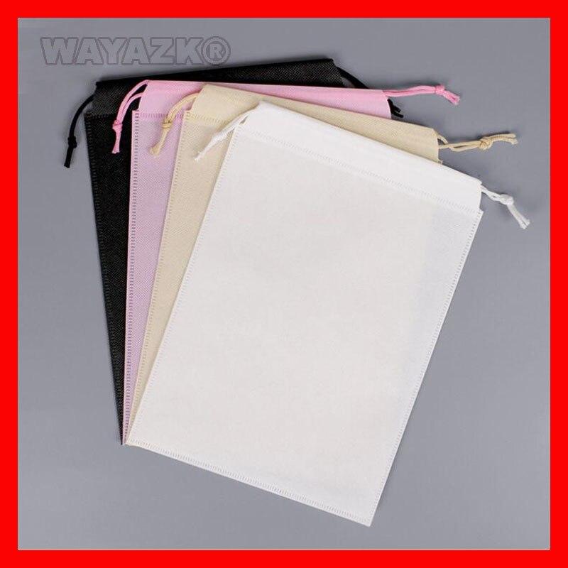 100 stuks/partij size kleine wit zwart 70gsm niet geweven stof eco trekkoord string bag-in Shoppingtassen van Bagage & Tassen op  Groep 1