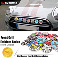2017 For Mini Cooper Car Front Grille Emblem Badge Stickers Countryman Clubman R55 R56 R57 R58 R59 R60 R61 F55 F56 Accessories