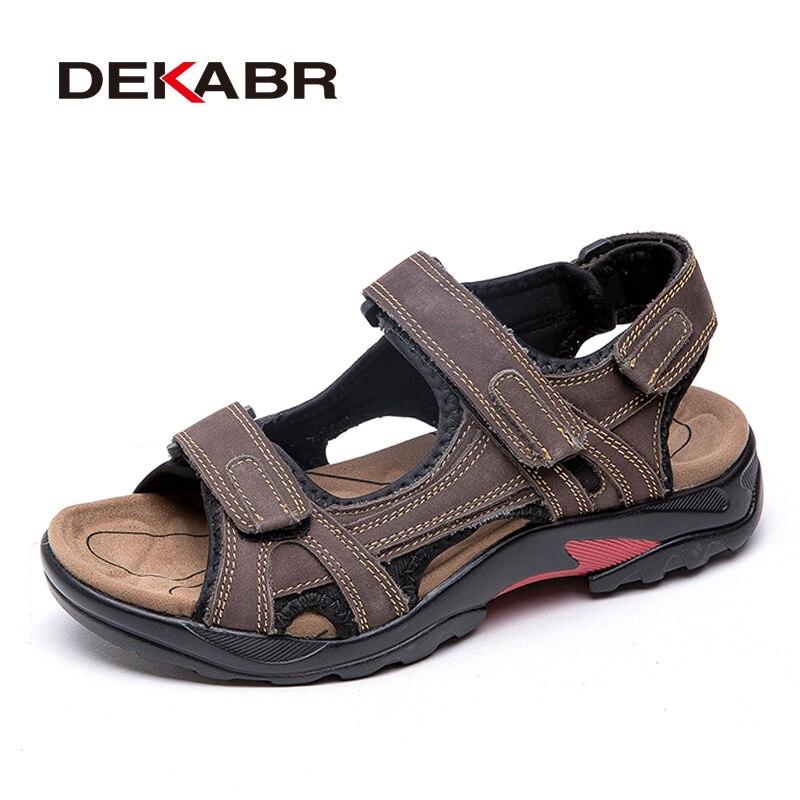 Image 4 - DEKABR Top Quality Sandal Men Sandals Summer Genuine Leather Sandals Men Outdoor Shoes Men Leather Shoes Big Plus size 46 47 48Mens Sandals   -