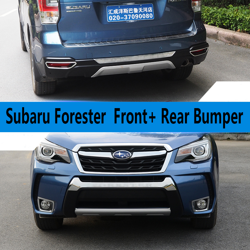 Subaru Aftermarket Parts >> Fit For Subaru Forester 2013 2017 Front+ Rear Bumper ...