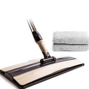 Flache Mopp Für Harte Boden Faul 360 Grad Reinigung Kehrmaschine Eimer Staub Kopf Hand Push Mikrofaser Stoff Tuch Hosehold Helfer