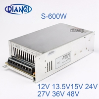 12V 15V 24V switching power supply 12.5A power suply 48v 600w ac to dc power supply Input 220v or 110V ac dc converter S 600 48