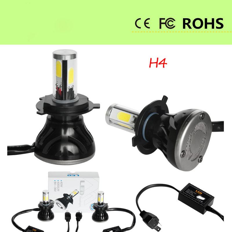 G5 H4 LED Headlight car Slim Conversion Kit 2400LM 50W CSP Y11 Chips All in one Pure White 6000K Car Lamp Bulb Modify free shipping all in one car led headlight conversion kit 66w 6000lm h13 high low beam bulb super bright car styling led bulb