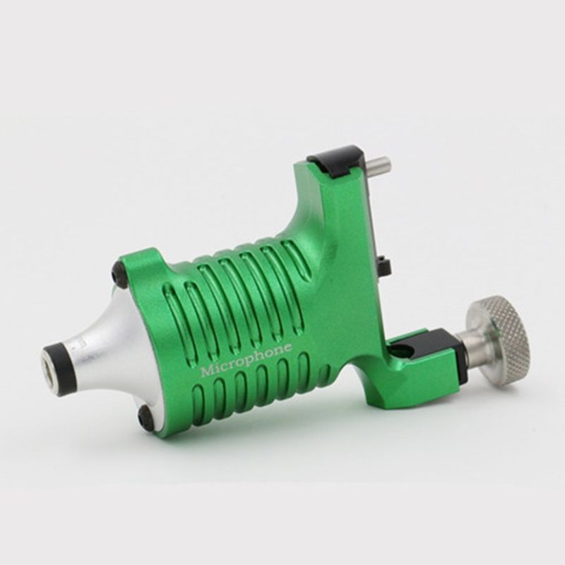 Best Quality Tattoo Machine Microphone Rotary Tattoo Machine Green Color Permanent Tattoo Gun For Tattoo Artist Free Shipping 2016 newest neotat rotary tattoo machine original best quality blue color permanent tattoo gun for tattoo artist free shipping