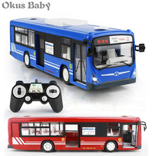 2021 RC Car 6 Channel 2.4G Remote Control Bus City Express High Speed One Key Start Function Bus with Realistic sound and Light