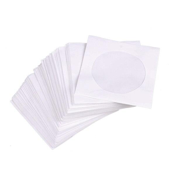 mini 95pcs protective white paper cd dvd disc storage bag