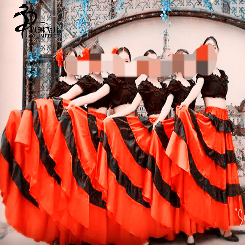 360Degree  Belly Dance Skirts/  Spanish Bull Dance Skir t Spanish Skirt Flamenco Dress
