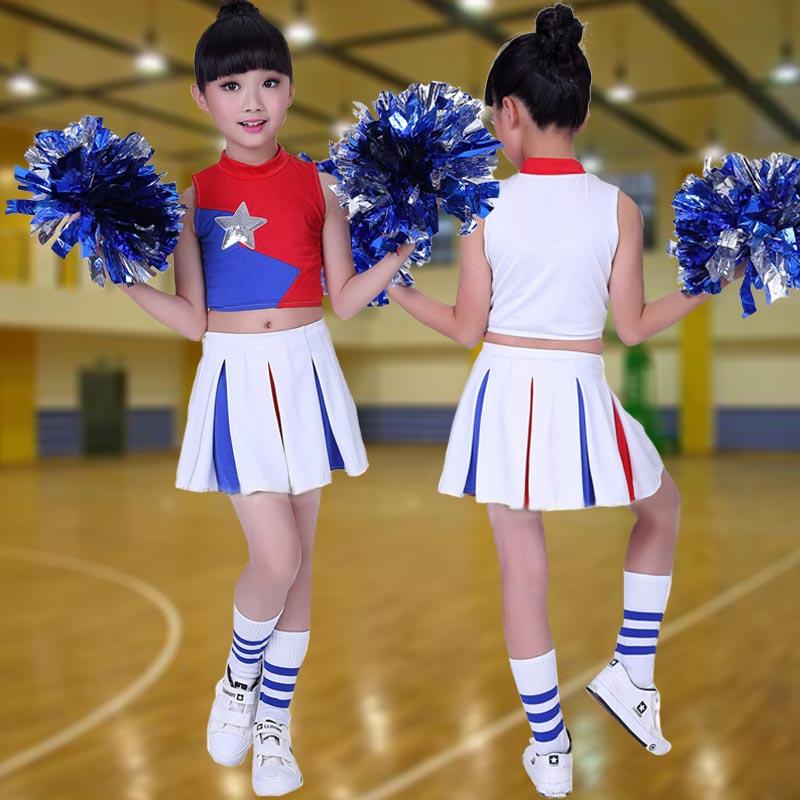 Children Ballroom Dance Costumes Cheerleading Costume Children Cheerleader Clothing Children Dance Cheerleading Gymnastics