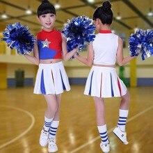 Children Ballroom Dance Costumes Cheerleading Costume Cheerleader Clothing Gymnastics