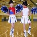 Niños Trajes De Baile de Porristas Traje Niños Animadora Ropa Niños de Porristas de Baile Gimnasia