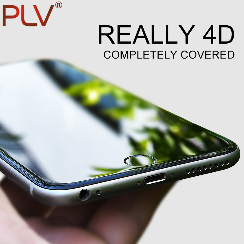 PLV 4D Full Cover Tempered Glass For iPhone 6 6s 6s Plus 9H Screen Protector Film For iPhone 6 s Plus Tempered Glass