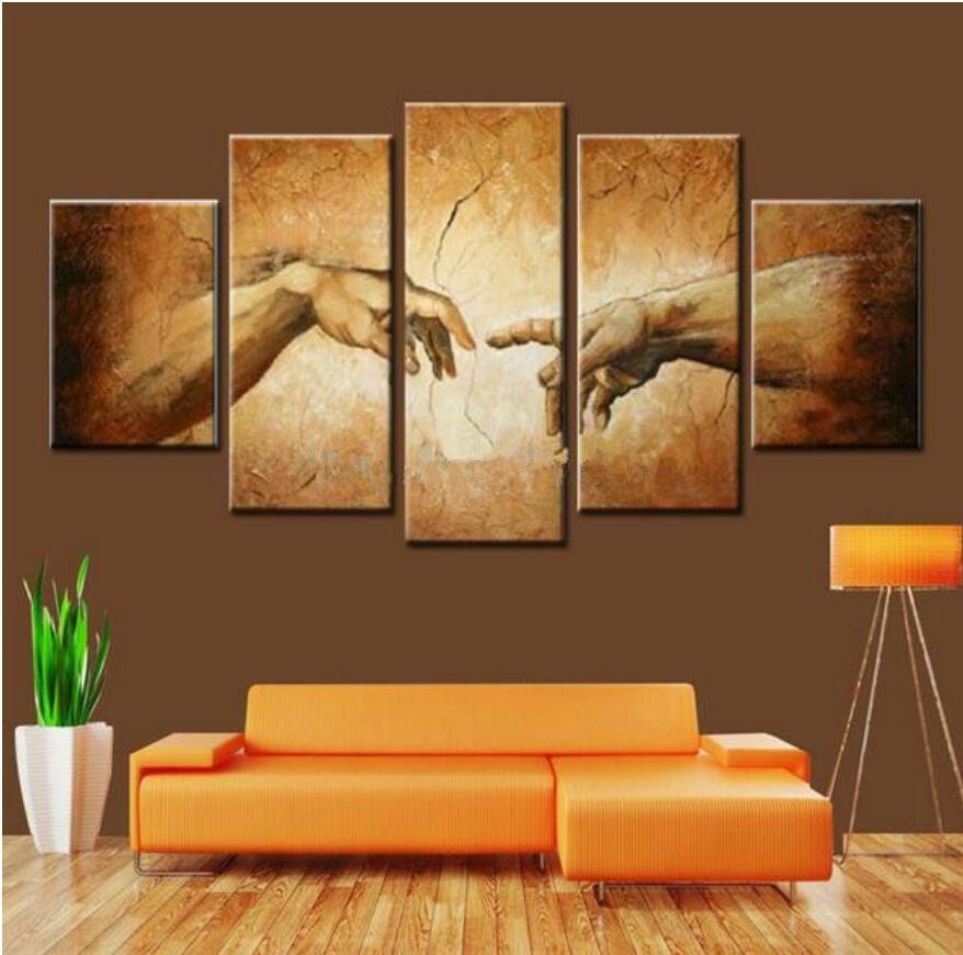Creation of Adam! Hand of god! Hand made Religion wall ...