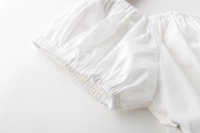 a81381f6e6d2aa Online Shop Candow Look Woman Cotton Pink Lemon Print Off Shoulder ...