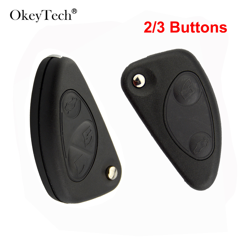 OkeyTech 2/3 Button New Style Remote Car Key Shell For Alfa Romeo 147 156 166 GT Model FOB Replacement Flip Folding Key CaseOkeyTech 2/3 Button New Style Remote Car Key Shell For Alfa Romeo 147 156 166 GT Model FOB Replacement Flip Folding Key Case