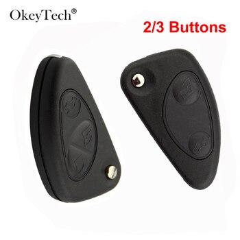 OkeyTech-carcasa de llave a distancia para coche, 2/3 para Alfa Romeo, 147,...