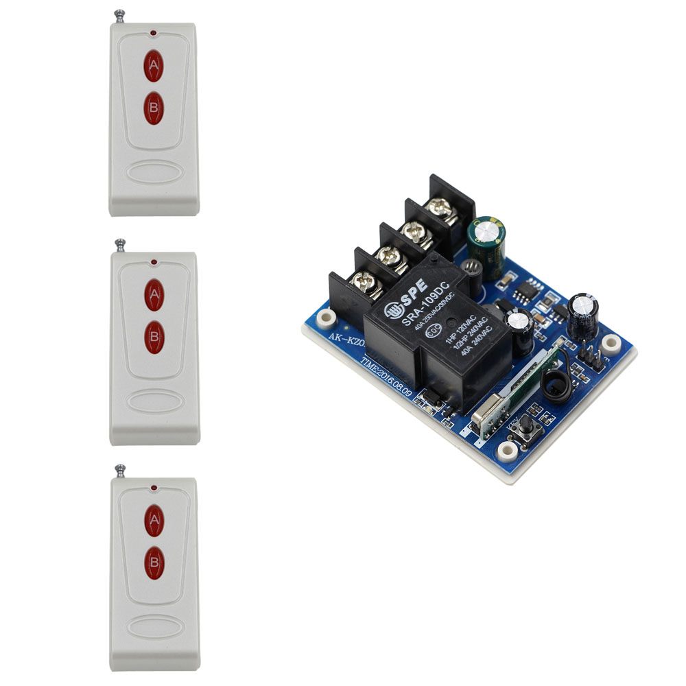 Nueva DC12V 24 V 36 V 48 V 1CH RF Sistema de Interruptor de Control Remoto Inalá