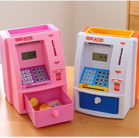 Piggy Bank Mini ATM Money Box Safety Electronic Password Chewing Coins Cash Deposit Machine Saving Box
