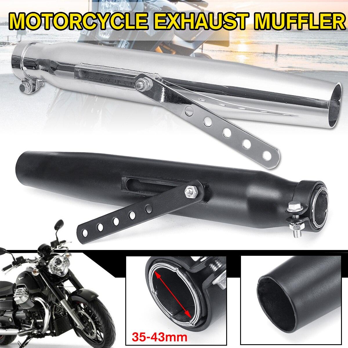 35-43mm tuyau d'échappement silencieux queue rétro silencieux pour Harley Davidson pour vtt moto universel moto silencieux Chrome