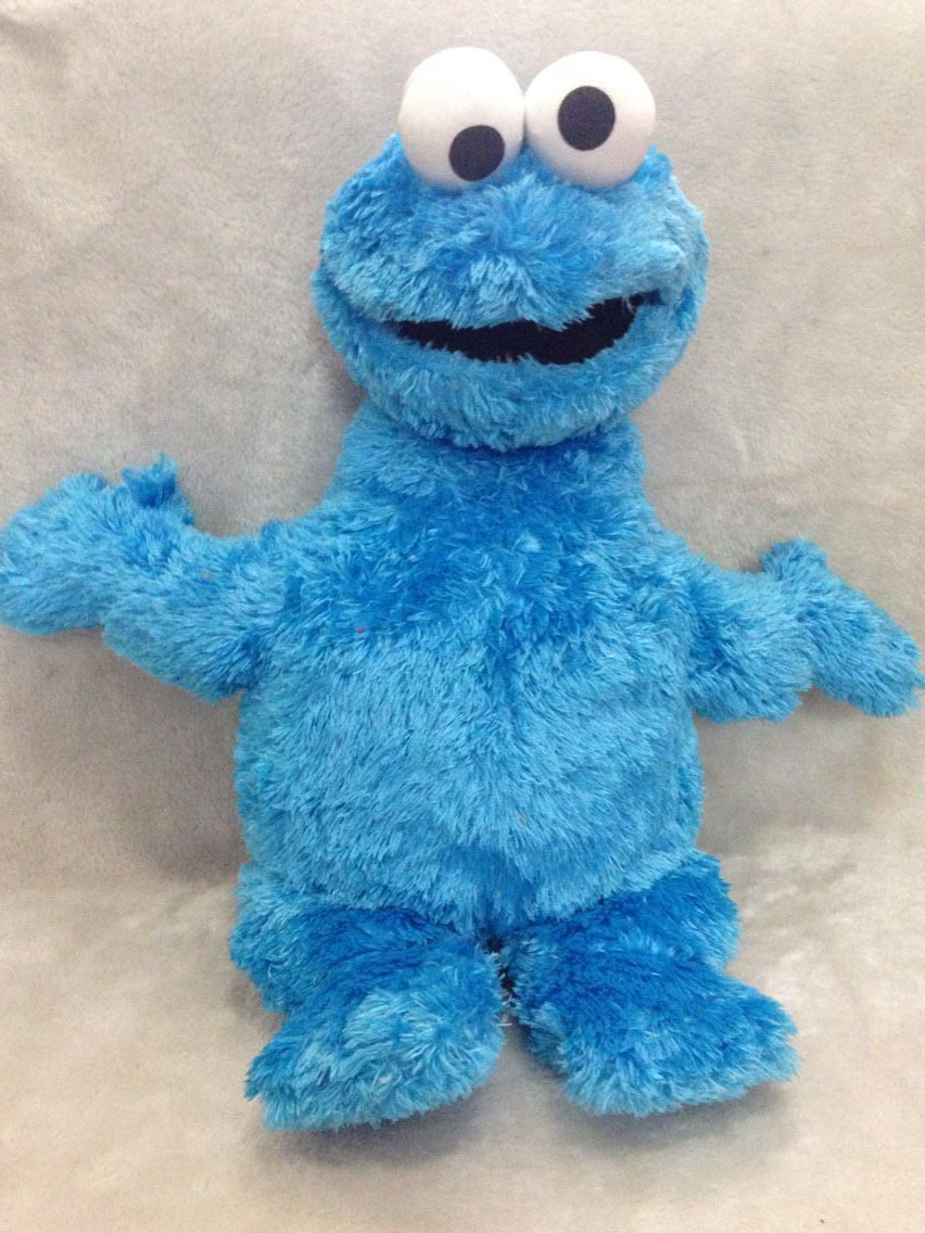 Original New Sesame Street Cookie Monster Plush Doll 55cm Cute Stuffed Toys Kids Soft Toys Gifts For Children toys peluche plush ocean creatures plush penguin doll cute stuffed sea simulative toys for soft baby kids birthdays gifts 32cm