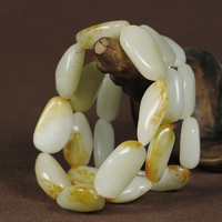Xinjiang Hetian Jade Seed Makings White Purplish Red One Rough Stone Stone Hand String
