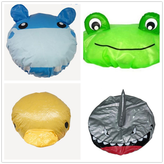 New Stylish Cute Cartoon Animal Design Waterproof PVC Elastic Spa Shower Cap Hat Bath Hair Cover Protector Hats Bathroom Product