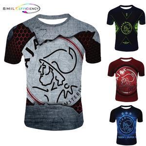 جديد وصول سلسلة 3d طباعة المتناثرة نمط الرجال T قميص اياكس 2019 2020 قميص اياكس 3d T قميص س الرقبة التي شيرت رجل بلايز الصيف