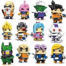 Figuras de acción de Dragon Ball Z, 12 Uds. De Super Saiyan Goku, juguete de Dragon Ball Z, Juguetes de bloques de construcción de BrickHeadz para niños